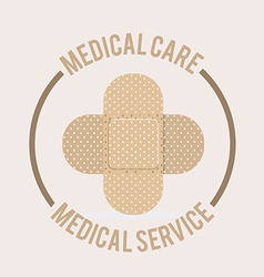 medical care design vector image vector image