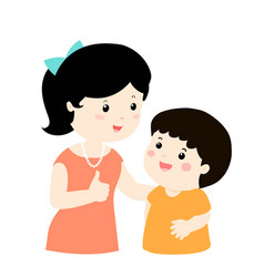 mother admire son character cartoon xa vector image vector image