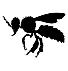 Ordinary bee side view vector