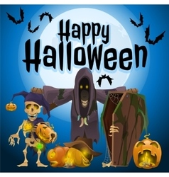 Participants of a holiday halloween vector