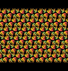 pattern from different leaves vector image