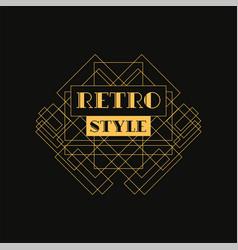 Retro style logo design luxury vintage geometric vector