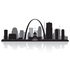 Saint Louis Missouri city skyline silhouette vector image
