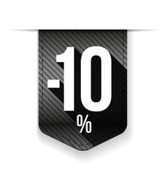 Sale ten percent off banner grey ribon vector