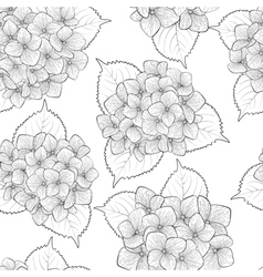 Seamless background with black and white flowers vector
