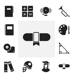 set of 12 editable teach icons includes symbols vector image