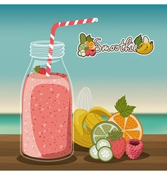 Smoothie design vector image