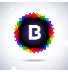 Spectrum logo icon letter b vector