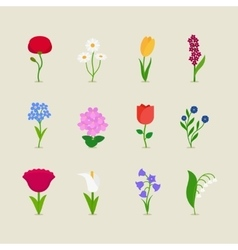 Stylized mod flowers vector