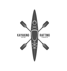 Vintage rafting label badge or logotype vector