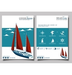 Yacht club Flyer design template vector image vector image