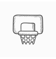 Basketball hoop sketch icon vector