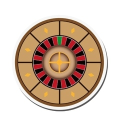 Casino roulette icon vector