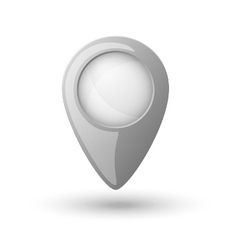 Plastic map location sign marker vector