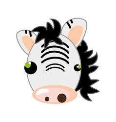 Zebra animal cartoon vector