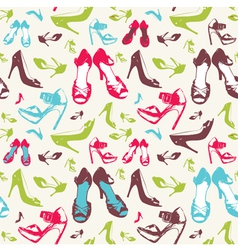High heels pattern vector