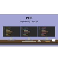 Php programming language code vector