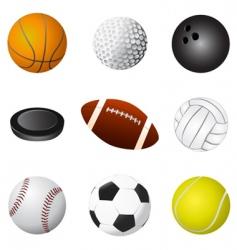 sport balls detail vector image