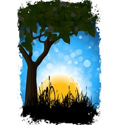 Grungy nature background vector