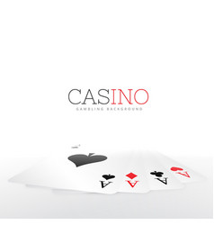 Playing card set on white background vector