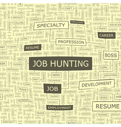 Job hunting vector