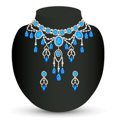 Jewelry female necklace vector