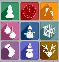 New year icons vector