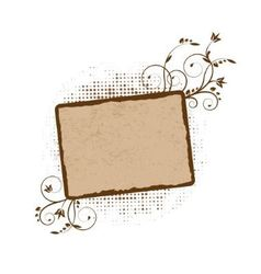 stained frame with Floral swirls vector image