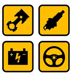 Car part symbols vector
