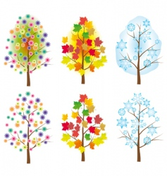 collection of trees for design vector image