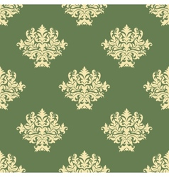 Foliate pattern with seamless baroque ornament vector