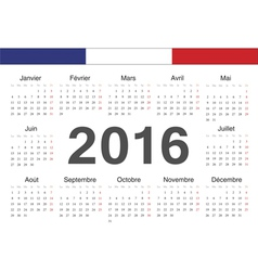 French rcircle calendar 2016 vector