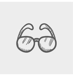 Sunglasses sketch icon vector