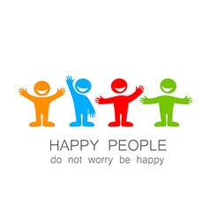 Happy people template vector