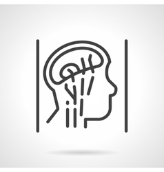 Head anatomy simple line icon vector