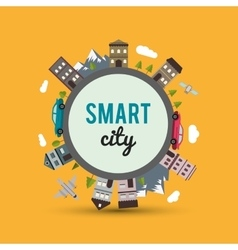Smart city design editable graphic vector