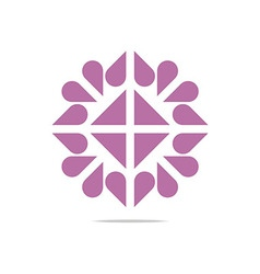 Logo heart abstract design business vector