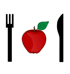 Eating apple vector