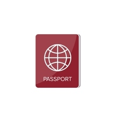 Passport in a flat style travel emigration vector