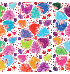 berries seamless hand drawn pattern vector image vector image