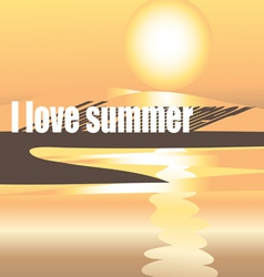 Bright summer the background with the sun vector