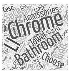 Chrome bathroom accessories word cloud concept vector