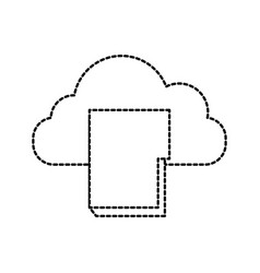 cloud computing folder file document archive vector image
