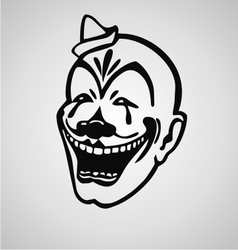 Clown face vector