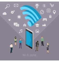 Concept of Wifi zone vector image vector image