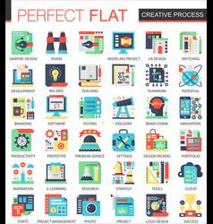 creative process complex flat icon concept vector image vector image