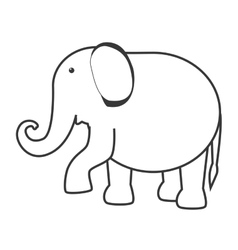 Elephant circus entertainment icon vector