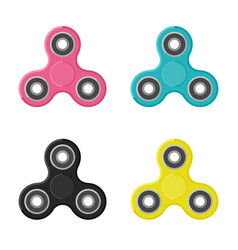 Fidget spinners in flat style vector