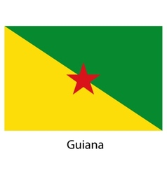 Flag of the country guiana vector