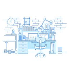 Freelancer workspace light vector